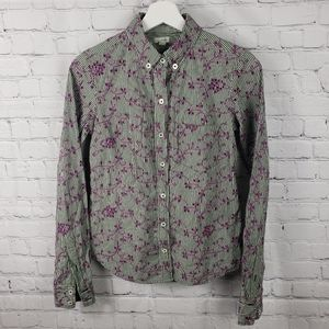 Anthropologie Odille Embroidered Button Down Shirt